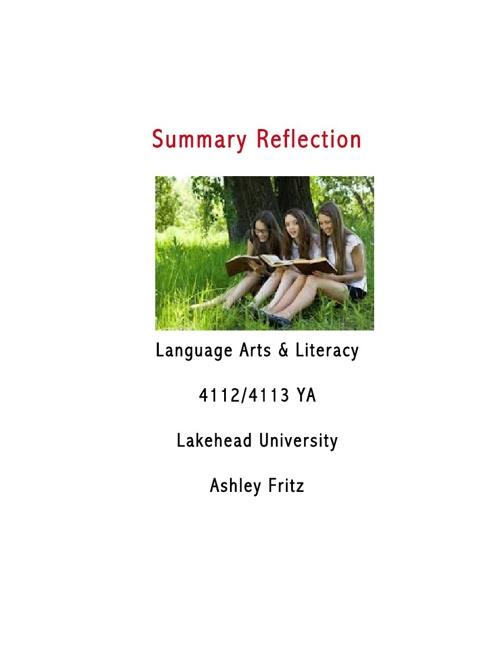 Summary Reflection