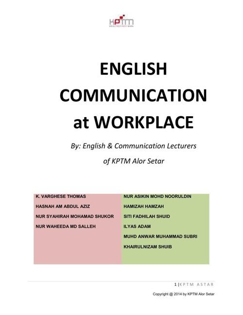 MODUL_English Comm at Workplace_ALORSETAR