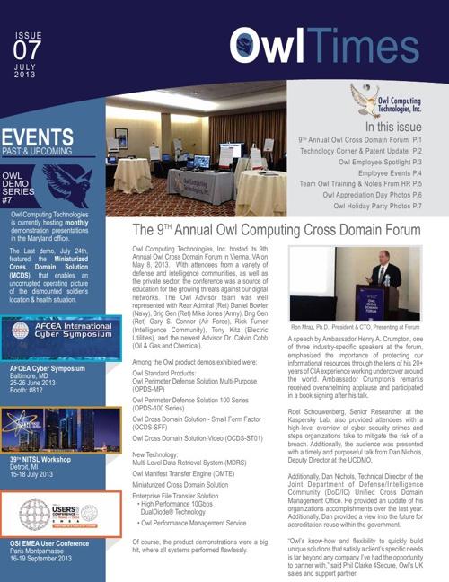 Owl Newsletter July 2013