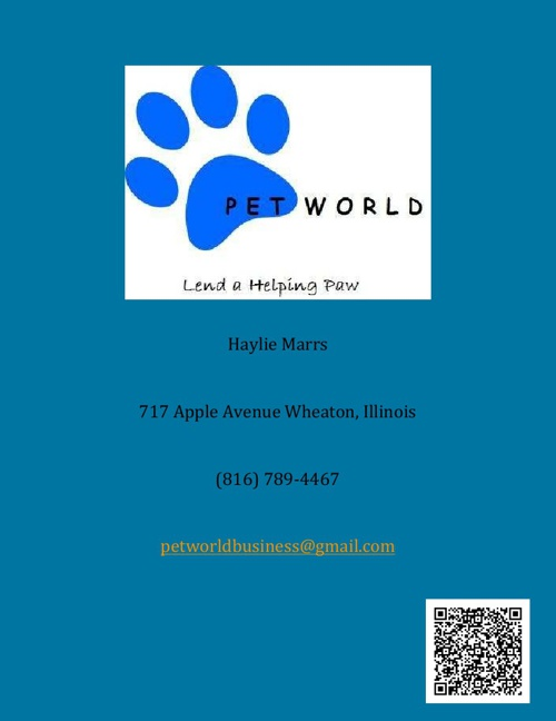 PET WORLD Business Plan