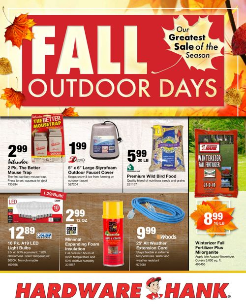 Shelby Paint and Hardware October Flyer