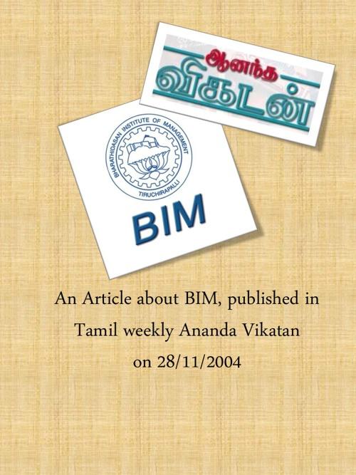 An Article on BIM Trichy by AV