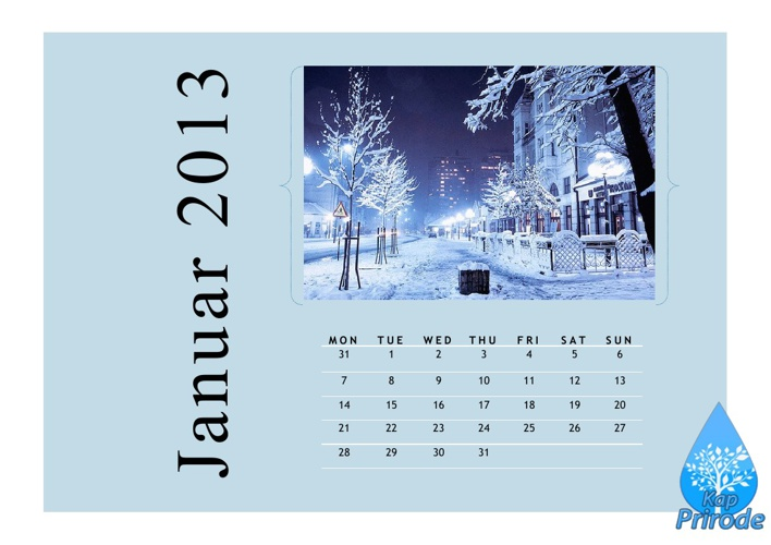 Kalendar 2013