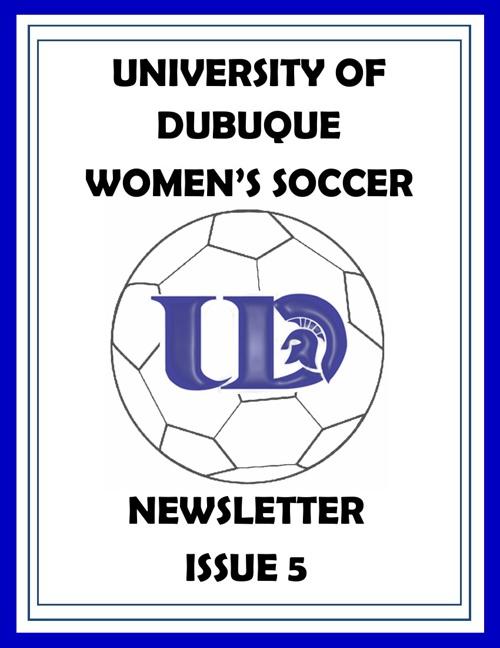 UD Women's Soccer Newsletter Issue 5