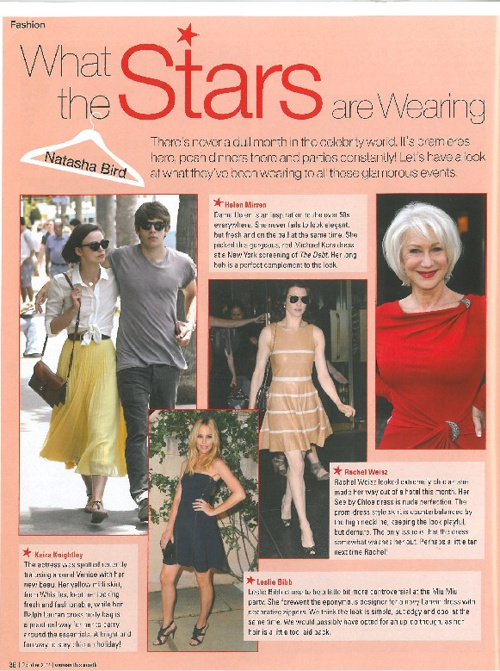 October 2011: What the Stars are Wearing!