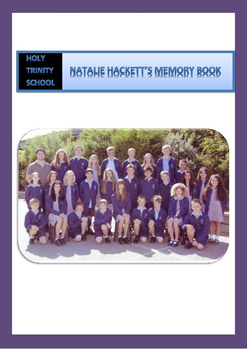 Natalie Hacketts's Memory Book