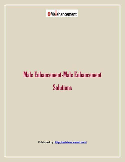 Male Enhancement-Male Enhancement Solutions