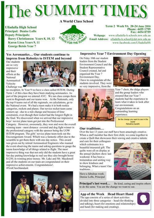 T2 Wk9A Summit Times 2016