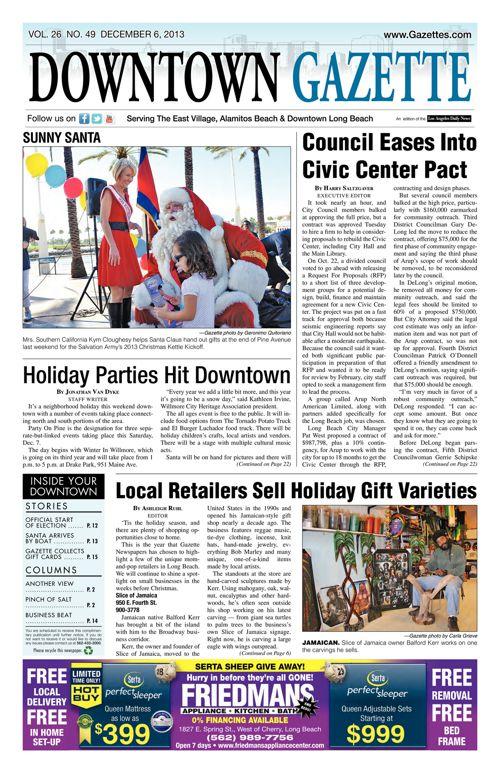 Downtown Gazette  |  December 6, 2013