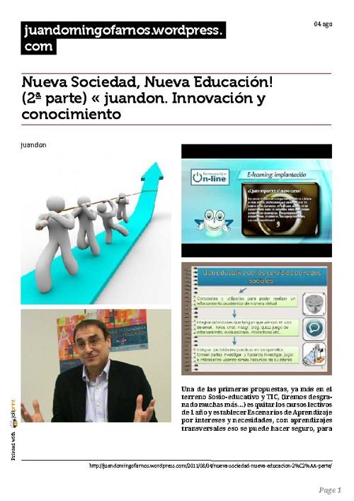 Nueva Sociedad...nueva Educación.