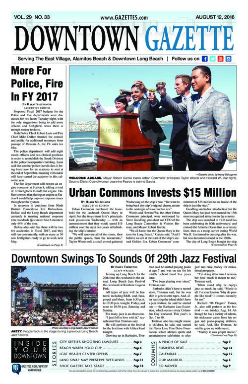 Downtown Gazette     August 12, 2016