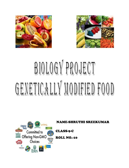 BIOLOGY GENETICALLY MODIFIED FOODS