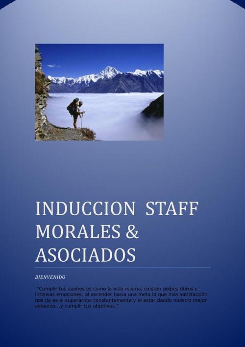 Induccion Morales & Asociados Cia. Ltda.