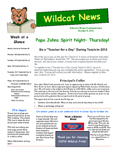 Wildcat Weekly