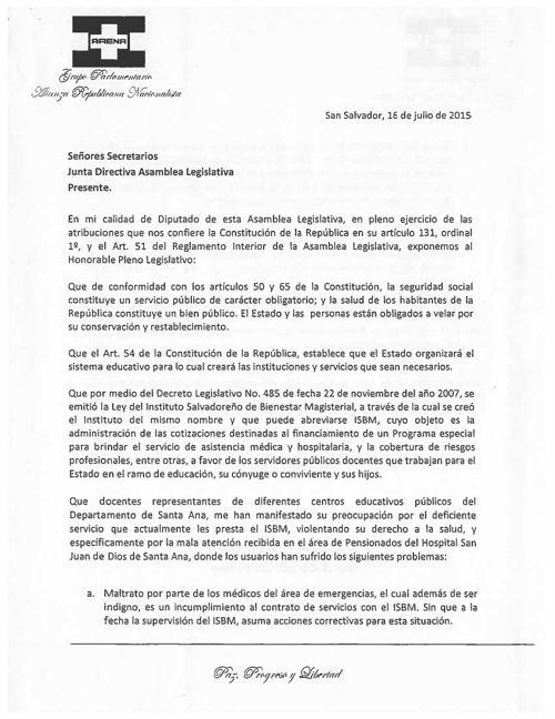-Recomendar al Presidente de Instituto Salvadoreño de Bienes