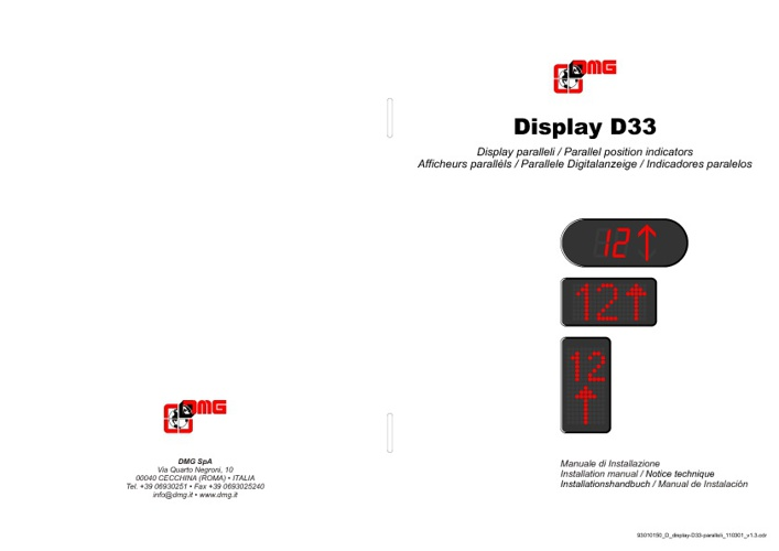 Catalogo display D33 Parallelo