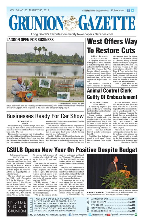 Grunion Gazette | August 30, 2012