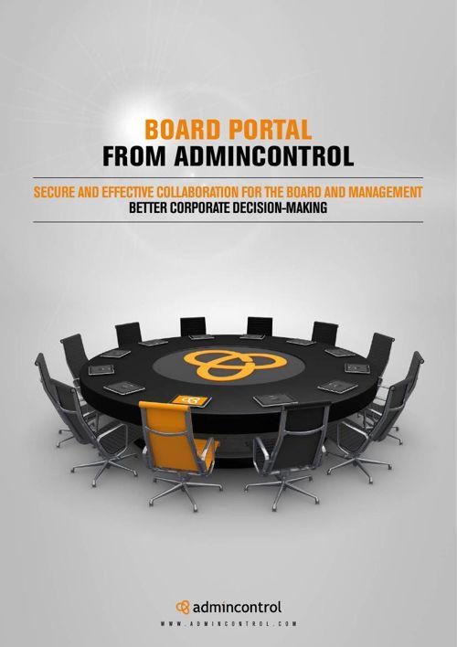 Board Portal from Admincontrol