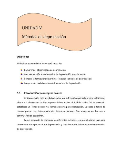 Matemáticas Financieras Quinta Unidad