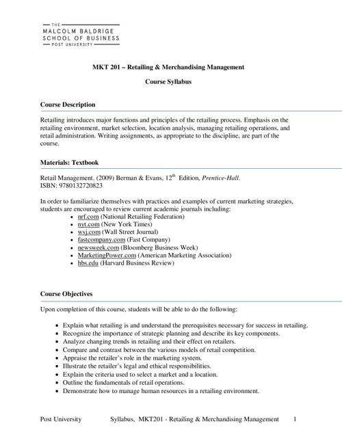 MKT201 (online)