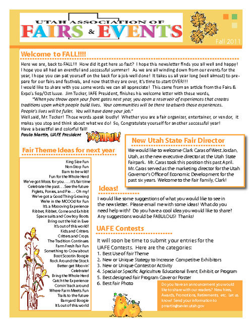 Fall 2011 UAFE Newsletter