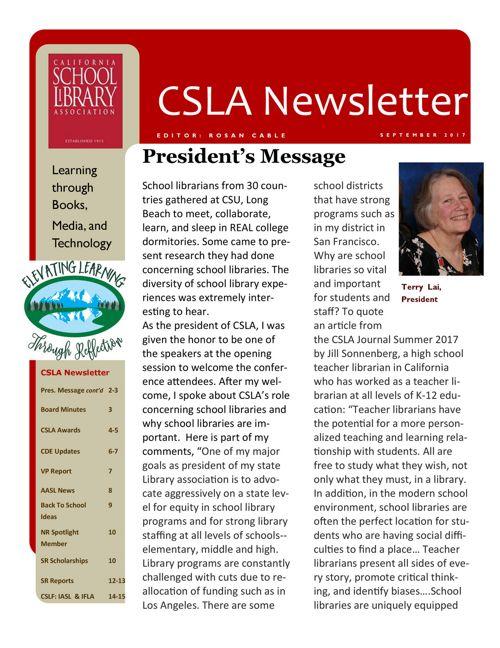 2017_09 CSLA Newsletter