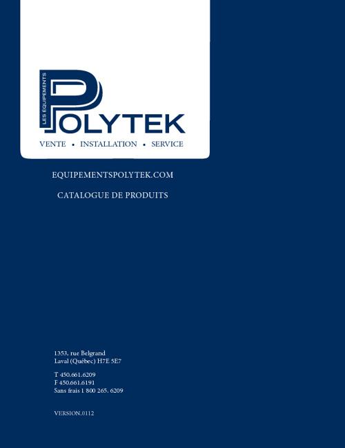 Catalogue de Produit Equipements Polytek 0112