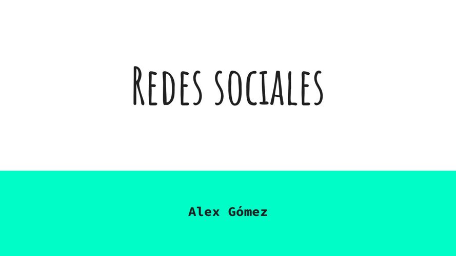 Redes sociales (1)