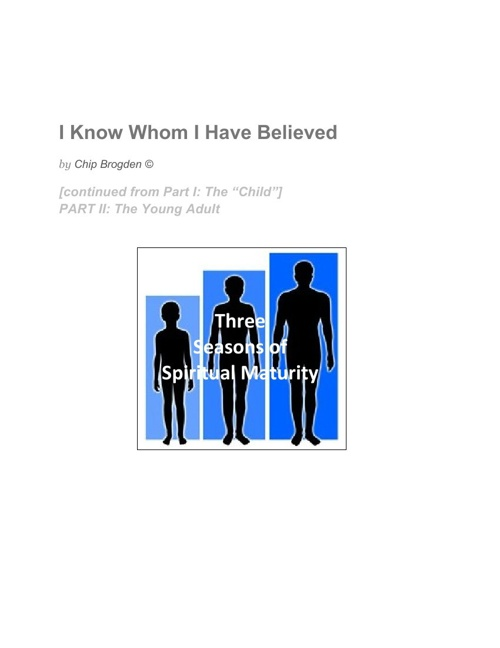 I Know Whom I Have Believed.youngadult