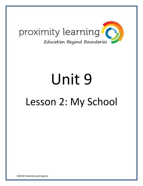 CHN 2 Unit 9 Lesson 2: My School