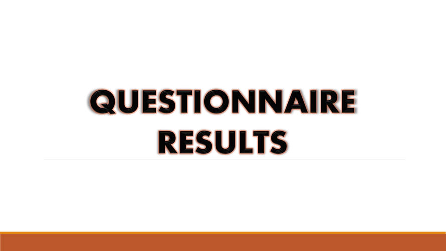 Documentary Questionnaire Results