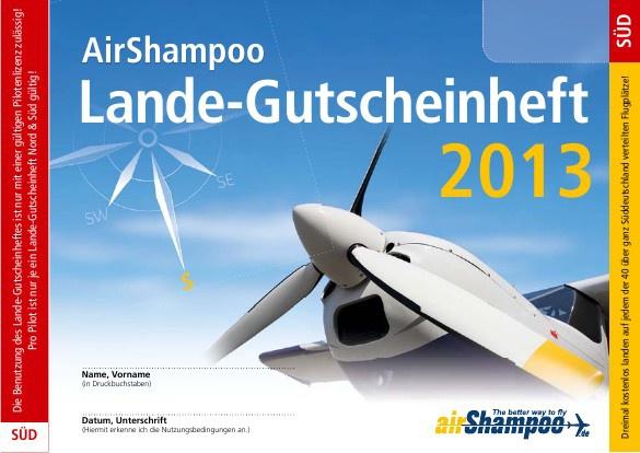 AirShampoo Lande-Gutscheinheft Süd