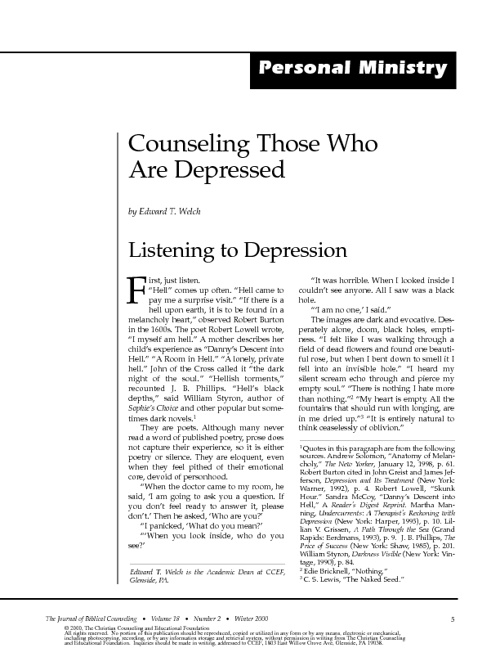 Counseling Depression