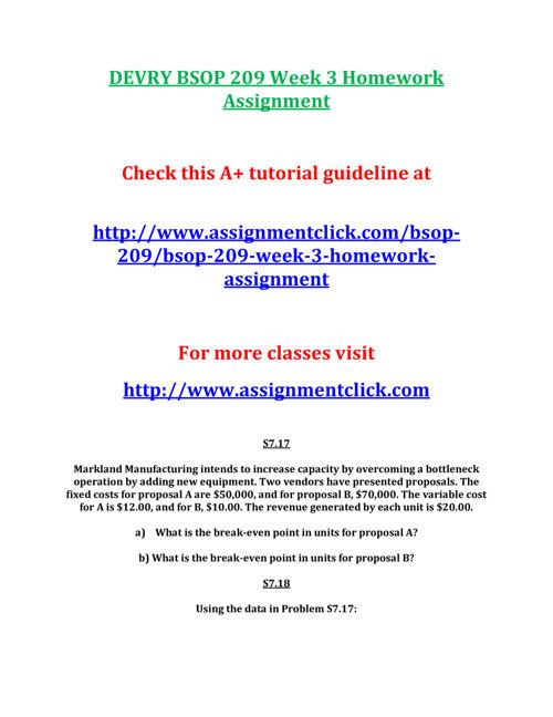DEVRY BSOP 209 Week 3 Homework Assignment