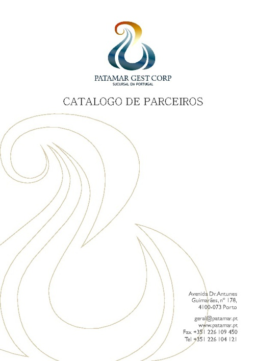 PATAMAR GEST CORP - CATALOGO DE PARCEIROS