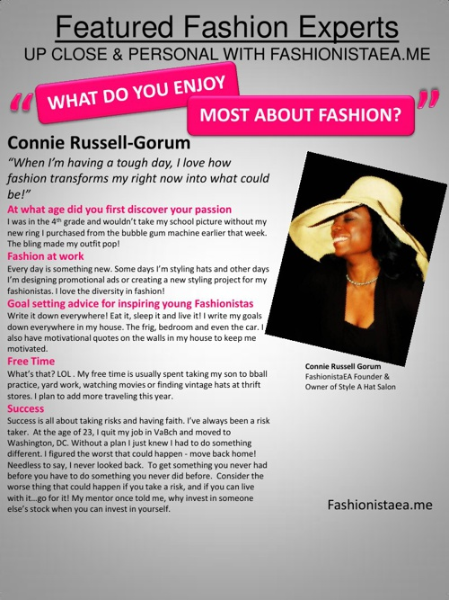 Featured Fashionistas 'Up Close & Personal'