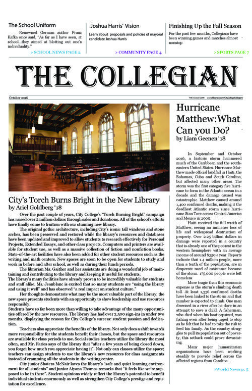 The Collegian Oct. 2016