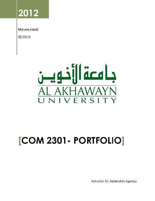 COM2301-PORTFOLIO-MERYEM-HAMDI