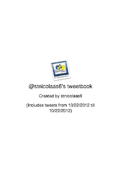 maandag 22-10-2012 eerste kennismaking met Twitter