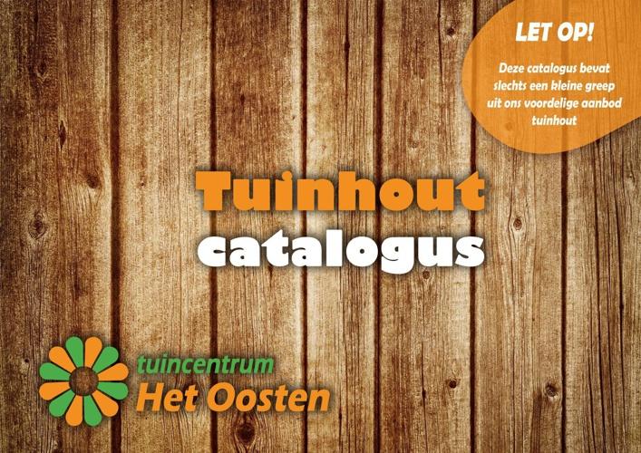 Tuinhout catalogus 2014 tuincentrum Het Oosten Aalsmeer