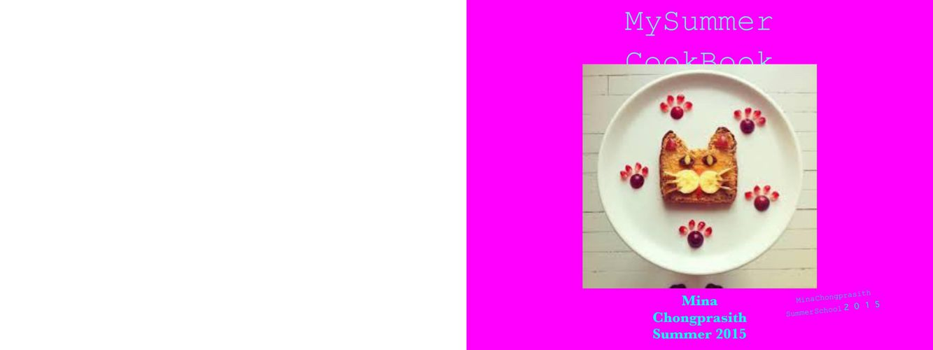 Mina's Summer Cookbook