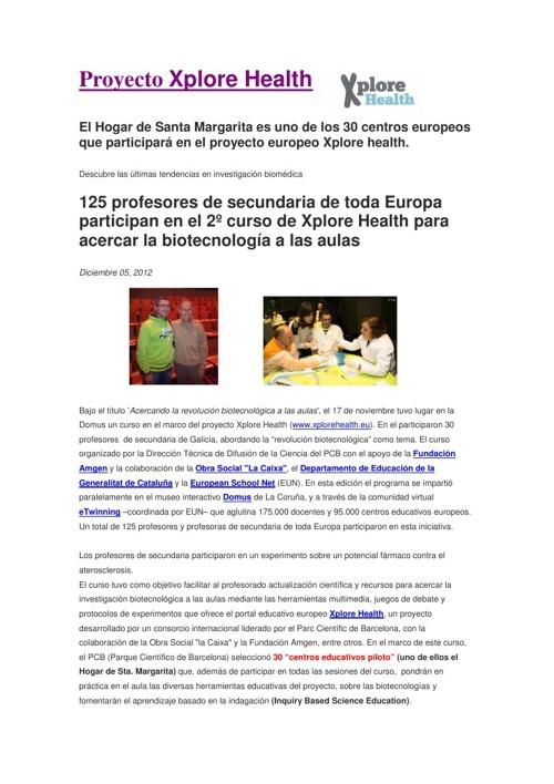 Proyecto Xplore Health