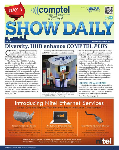 Comptel Plus (Fall 2014) - Day 1 Show Daily