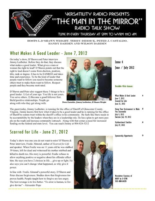 June / July Newsletter 2012