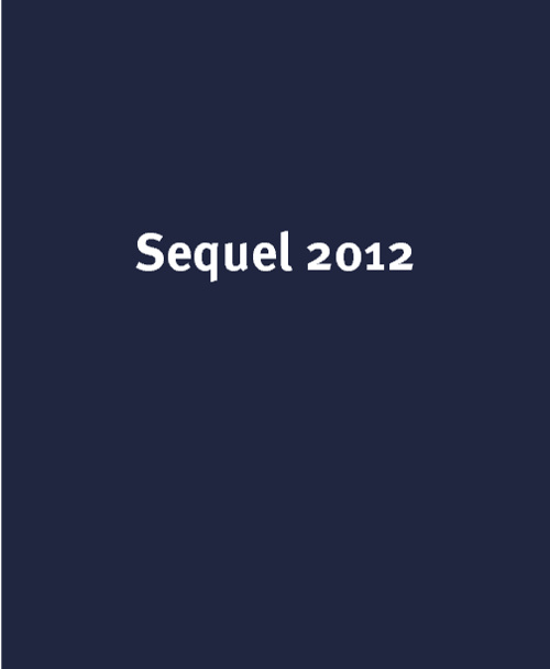 Sequel 2012 Proof
