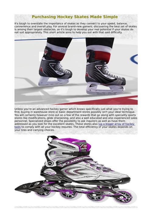 Purchasing Hockey Skates Made Simple