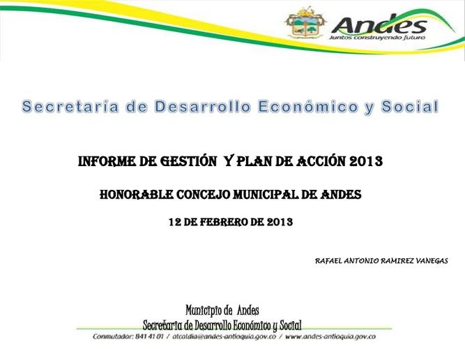 Secretaría de Desarrollo Económico y Social informe de gestión