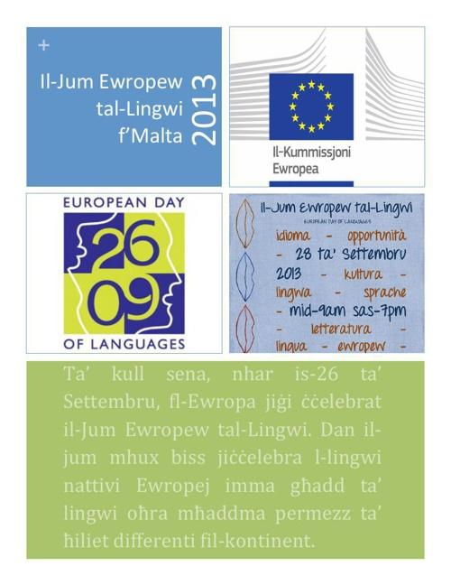 JEL2013 - Pakkett ta' tagħrif