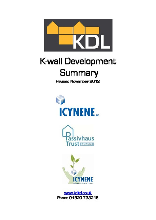 K-Wall Development Summary