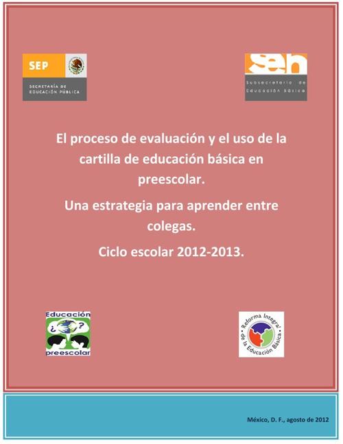 Evaluar en Preescolar 2013